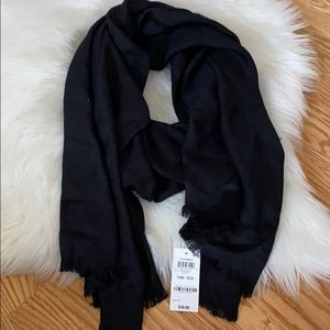 Inc reversible black shine wrap scarf